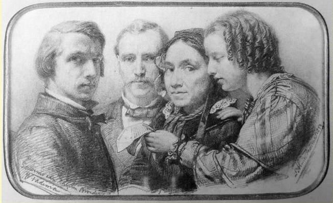 Альма-Тадема. Альма-Тадема, отец, мать и его сестра. 1859