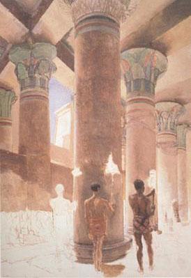 Альма-Тадема. Клеопатра в Храме Изиды в Филэ
