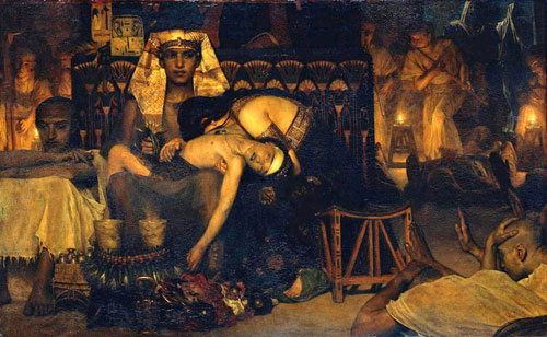 Альма-Тадема. Смерть первенца (вторая версия). 1872.