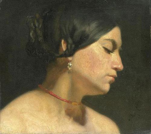 Мария Магдалина. 1854. Масло, холст. 12 1/8 x 13 3/4 дюймов (31 x 35 см). Rijksmuseum, Амстердам, Голландия.