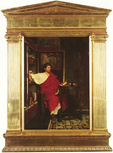Римский писец, пишущий послания. 1865.