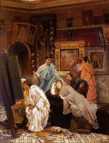 Коллекционер картин во времена Августа. 1867.