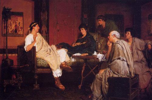Альма-Тадема. Тибулл у Делии. 1866.