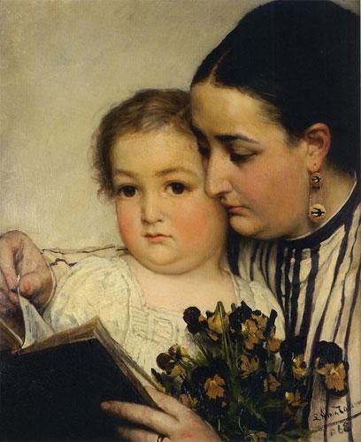 Портрет госпожи Боннефуа и Пюттеман (или Чтение). 1867.