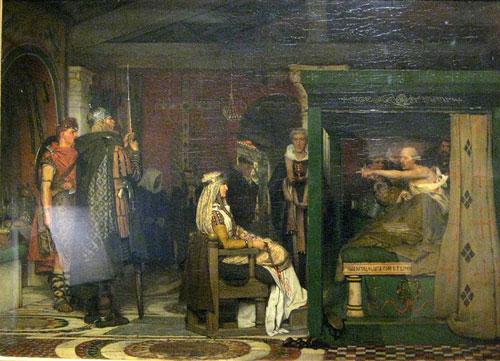 Альма-Тадема. Фредегонда и Претекстат. 1871.