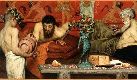 Альма-Тадема. Греческое вино. 1872.