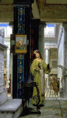Альма-Тадема. В Храме. 1871.