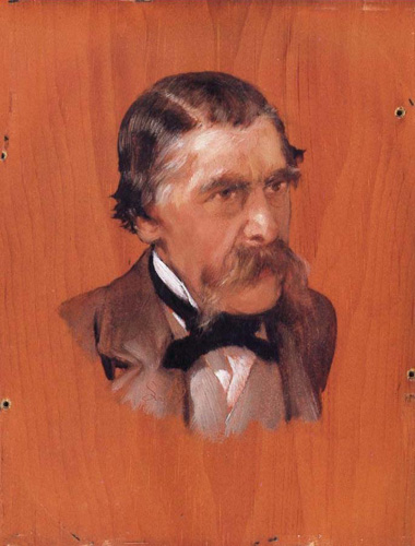 Альма-Тадема. Портрет Генри Томпсона. 1878. 28.1x20.9 см.