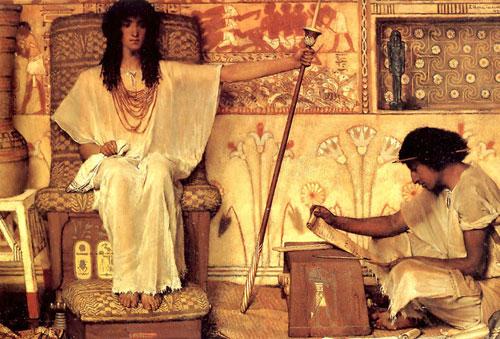 Альма-Тадема. Иосиф - Надзиратель зернохранилищ Фараона. 1874.
