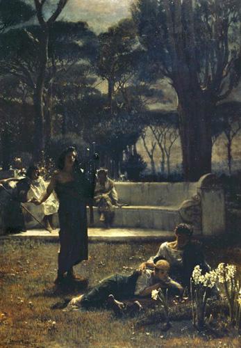 Альма-Тадема. Improvisatore. 1872.