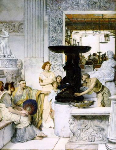 Альма-Тадема. Галерея скульптур. 1874.