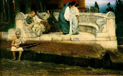 Альма-Тадема. An exedra. 1869.