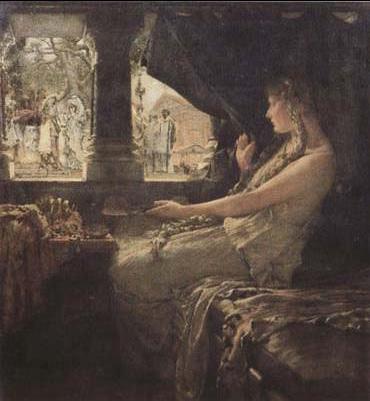Альма-Тадема. Фредегонда и Галесвинта. 1878.