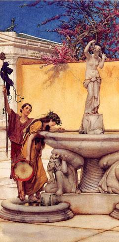 Альма-Тадема. Между Венерой и Вакхом. 1882.