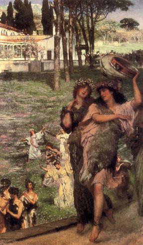 Альма-Тадема. По дороге в храм Цереры: весенний праздник. 1878.