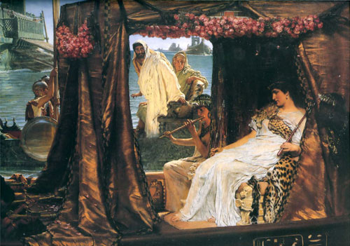 Альма-Тадема. Встреча Антония и Клеопатры. 1883.