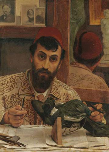 Альма-Тадема. Портрет Профессора Джованни Баттиста Амендолы. 1883.