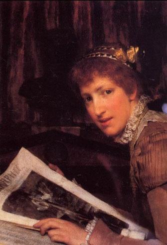 Альма-Тадема. Прерванная (тип женской красоты). 1880.