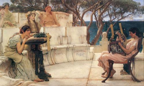Альма-Тадема. Сафо и Алкей. 1881.