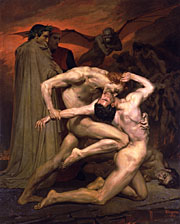 Dante and Virgil in Hell. 1850. Oil on canvas. (225 x 281 cm). Private collection.