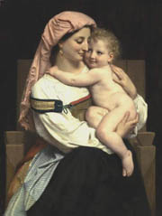 Woman of Cervara and Her Child. 1861. Oil on canvas. Public collection