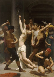 The Flagellation of Our Lord Jesus Christ. 1880. Oil on canvas. (212 x 309 cm). Cathedral of La Rochelle (La Rochelle, France)