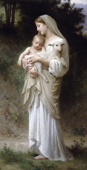 Innocence. 1893. Oil on canvas. (52.5 x 100 cm). Private collection