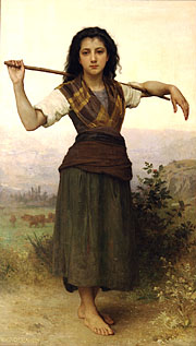 Shepherdess. 1889. Oil on canvas. (93 x 159 cm). The Philbrook Museum of Art (Tulsa, Oklahoma, United States)