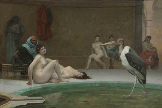 Жан-Леон Жером. Мавританская ванна или Марабу.