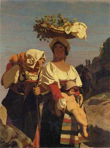 Жан-Леон Жером. Две итальянских крестьянки и младенец.