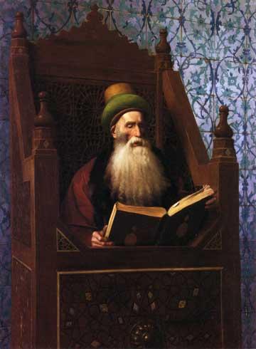 Жан-Леон Жером. Муфтий, читающий на своем кресле молитву.