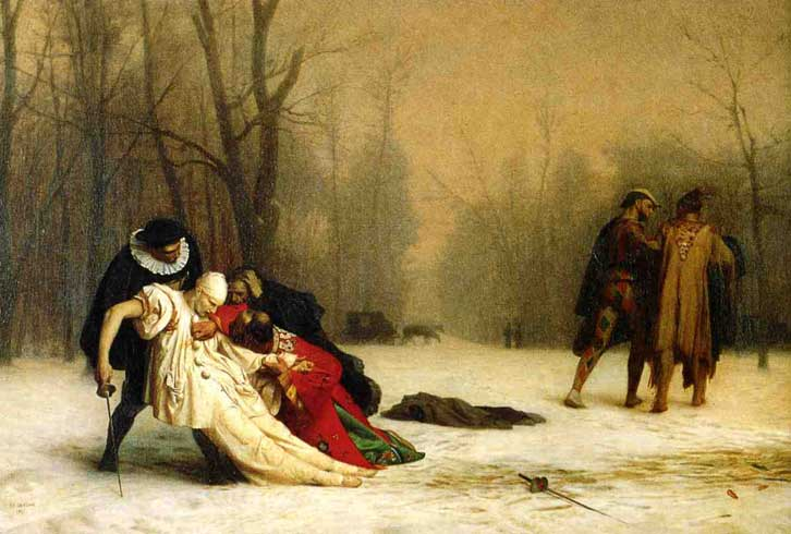 Жан-Леон Жером. Дуэль после маскарада.