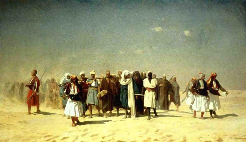 Жан-Леон Жером. Египетские новобранцы, пересекающие пустыню.