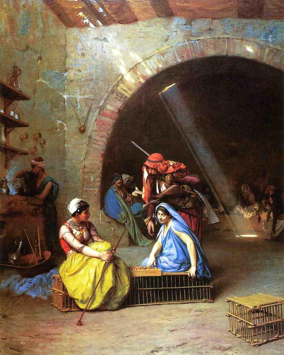 Жан-Леон Жером. Almehs, играющие в шахматы.