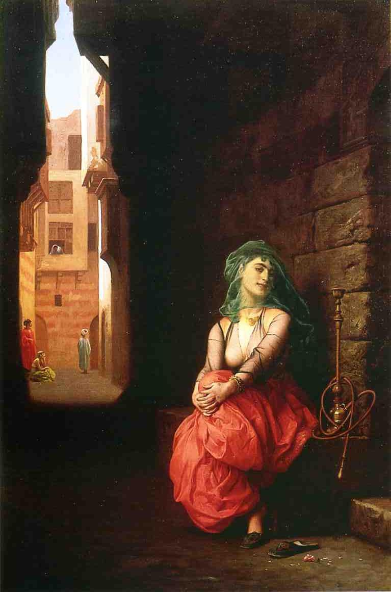 Жан-Леон Жером. Молодая арабка с кальяном.
