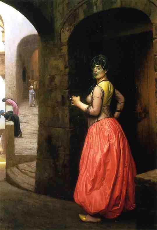 Жан-Леон Жером. Женщина из Каира, курящая сигарету.