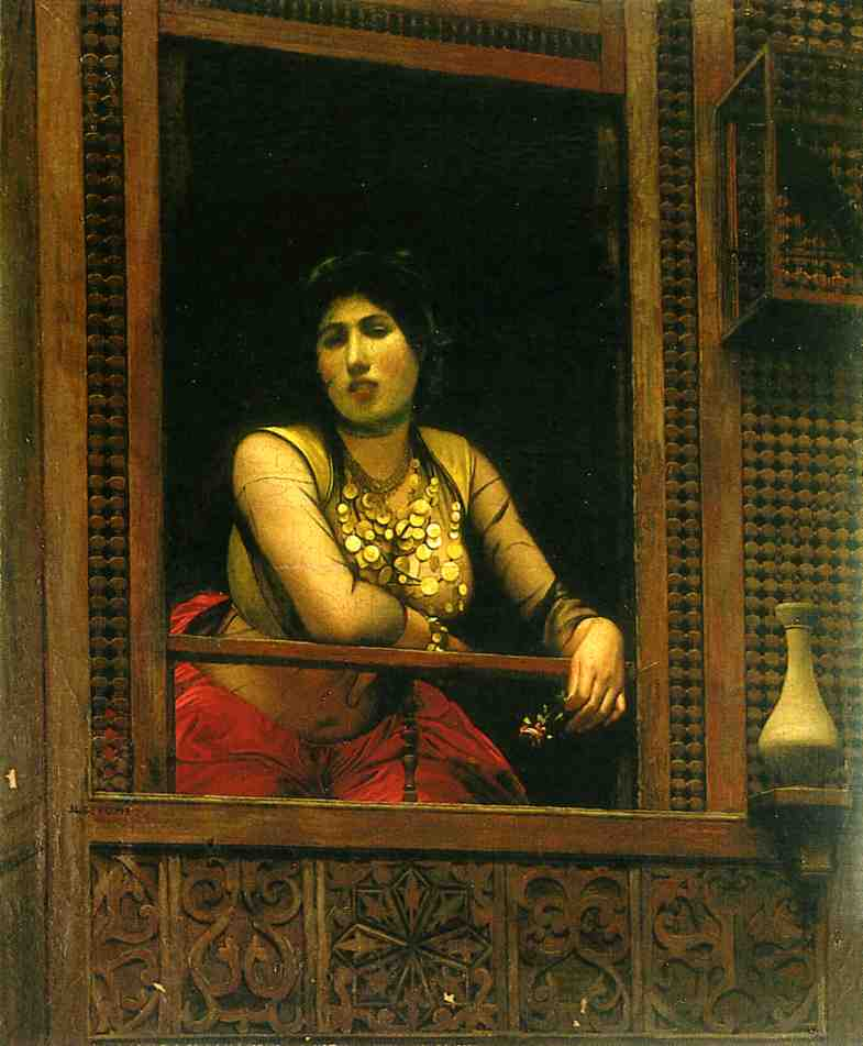 Жан-Леон Жером. Женщина в окне.