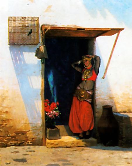 Жан-Леон Жером. Женщина Каира в своих дверях