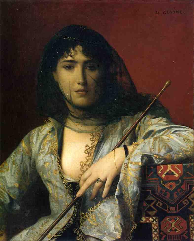 Жан-Леон Жером. Черкесская женщина с закрытым лицом.