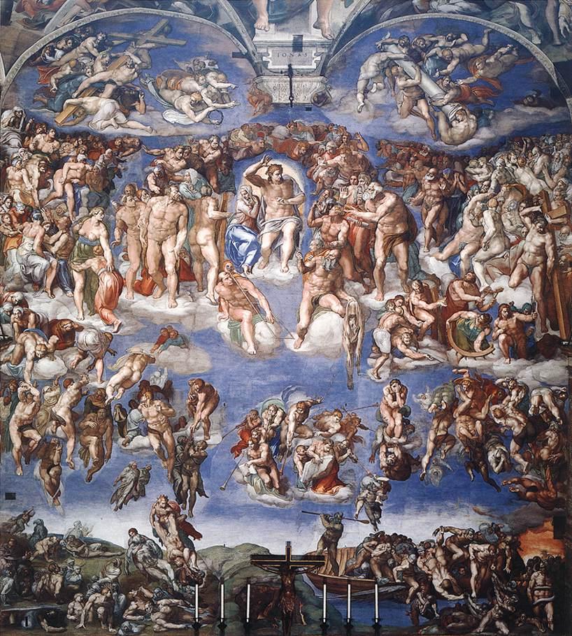 Фреска «Страшный суд». Микеланджело