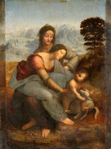 Святая Анна с Мадонной и младенцем Христом и барашком