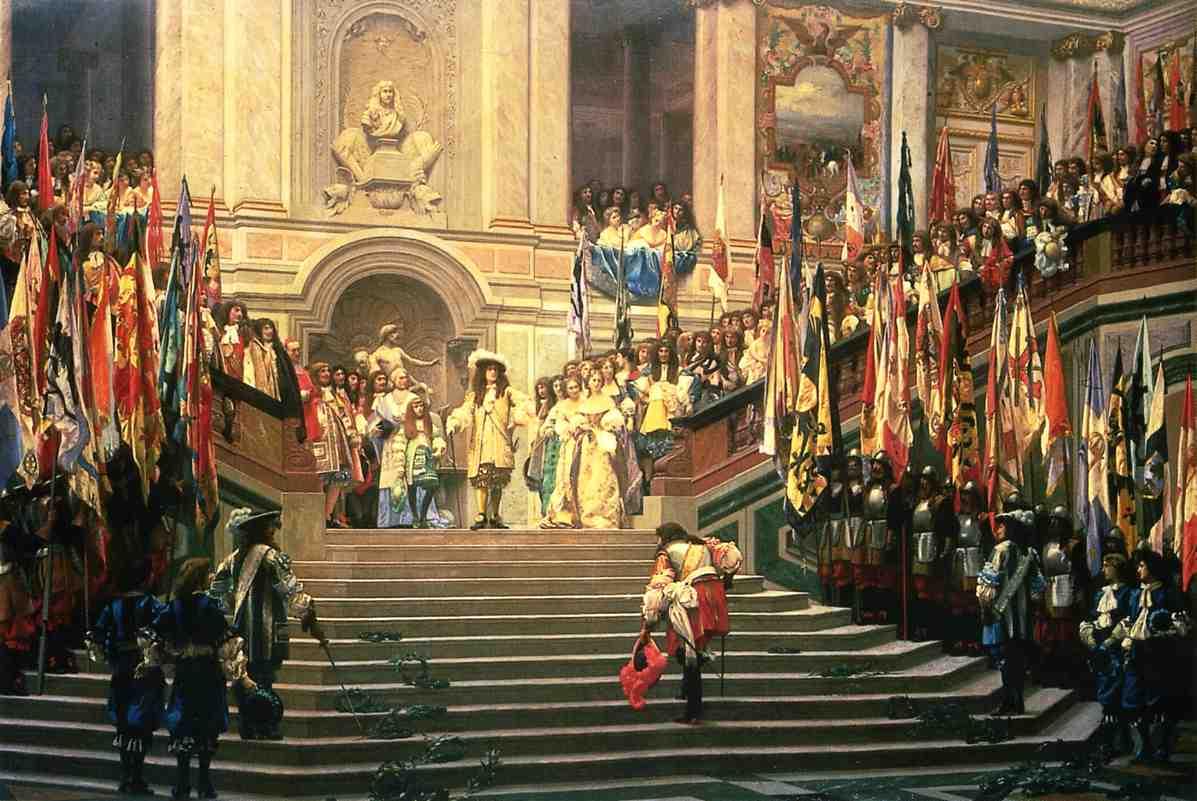 Жан-Леон Жером. Прием Великого Конде в Версале.