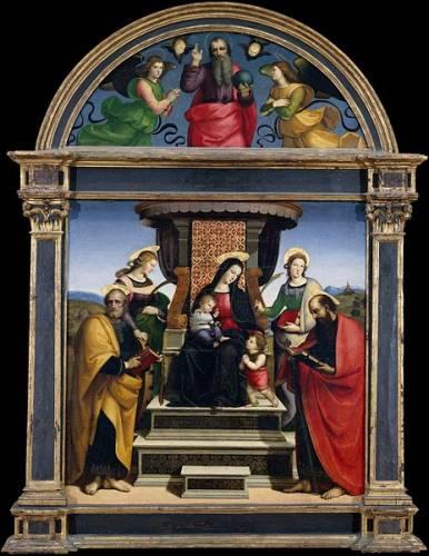 Мадонна с младенцем на троне и святые