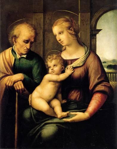 Святое семейство с безбородым святым Иосифом